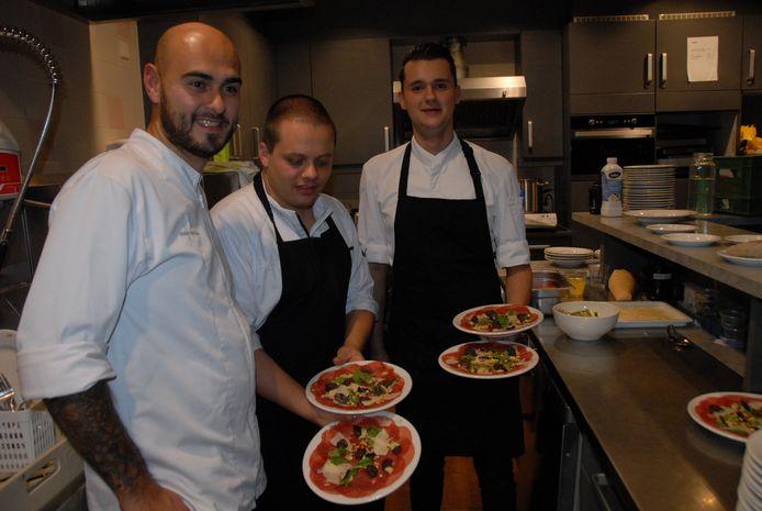 De koks Ferry van Daal, Mitch Damen en Niels Schweig.