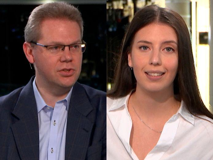 Professor David Criekemans in gesprek met Daimy Van den Eede
