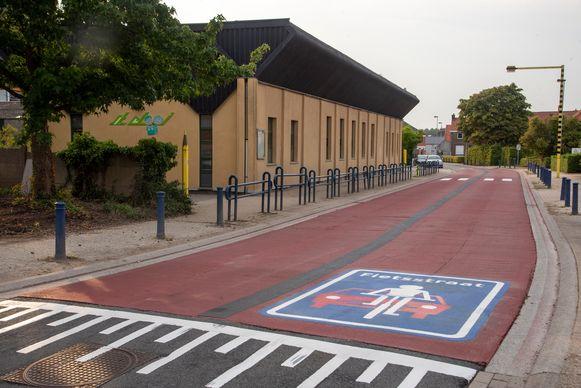 De Sint-Elooistraat is een geaccentueerde fietsstraat.