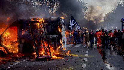 Opnieuw 11 relschoppers nationale betoging opgepakt