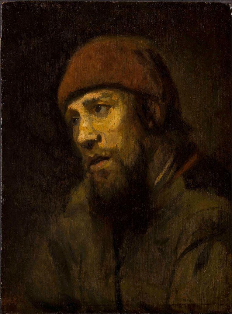Man met rode muts Beeld Rembrandthuis