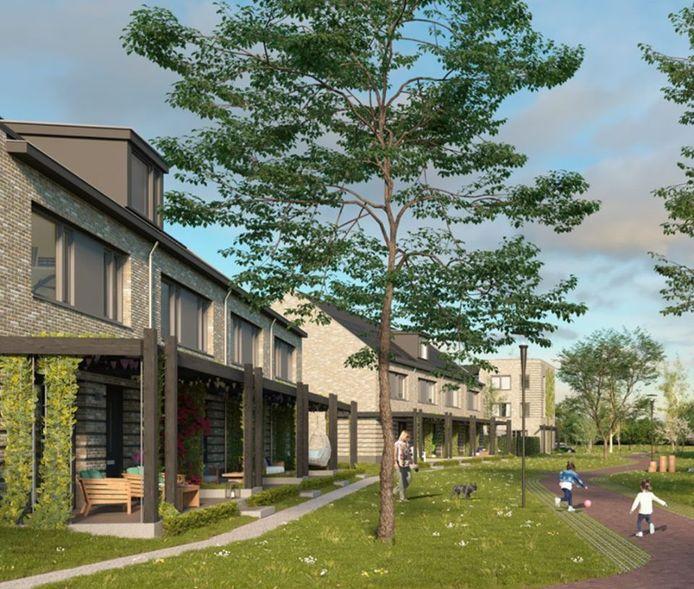 Parkbuurt Hoogvliet. Fase 1 en 2 van het nieuwbouwproject zijn al uitverkocht.