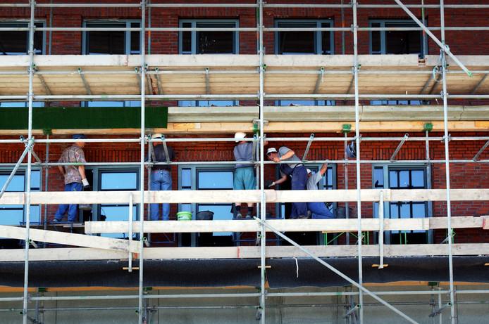 In de bouw zijn verhoudingsgewijs veel zelfstandigen werkzaam.