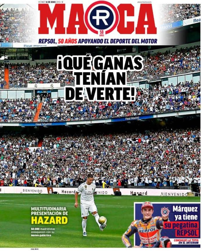 """""""Qu'est-ce qu'on avait hâte de te voir!"""", titre Marca, grand quotidien pro-Real"""