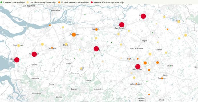 Wachtlijsten voor woonwagens in Brabant