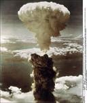 De atoomexplosie in Nagasaki.