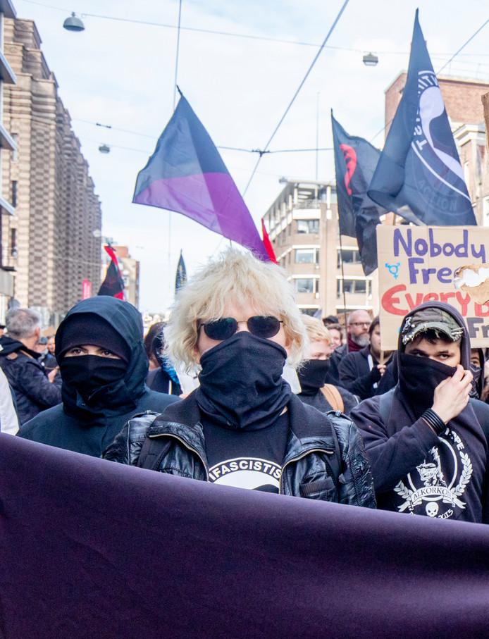 Demonstranten tijdens de jaarlijkse anti-racismedemonstratie.