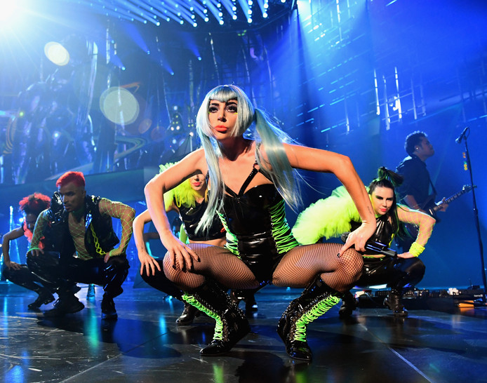 Lady Gaga tijdens haar Enigma-show