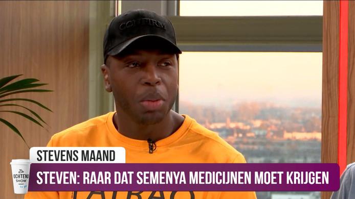 Steven Brunswijk maakt zich er boos over dat mensen vinden dat Caster Semenya aan de medicijnen zou moeten om vrouw te blijven.