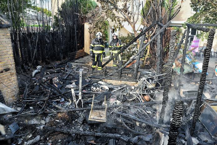 Veel schade na een brand in Oisterwijk.