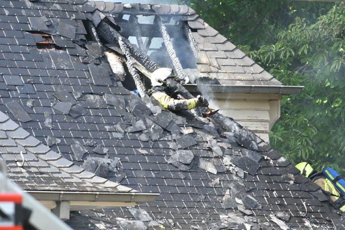 De schade aan de woning is groot.