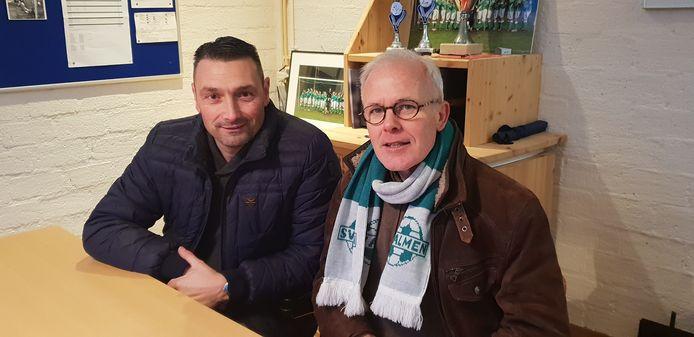 Almen-trainer Wilco Laconi (links) naast de voorzitter van Almen, Bert Wentink.