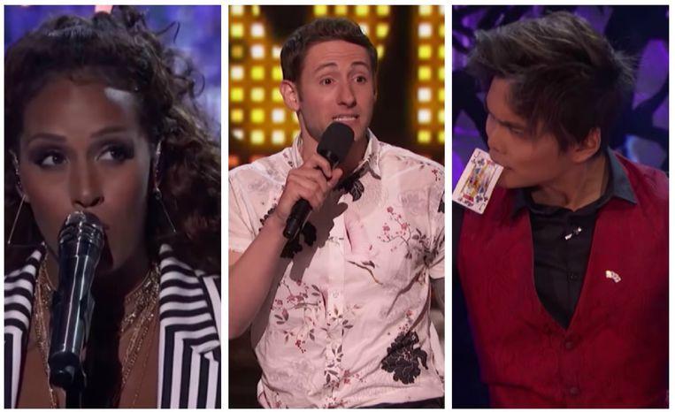 De eerste 5 finalisten van 'America's Got Talent' zijn bekend.