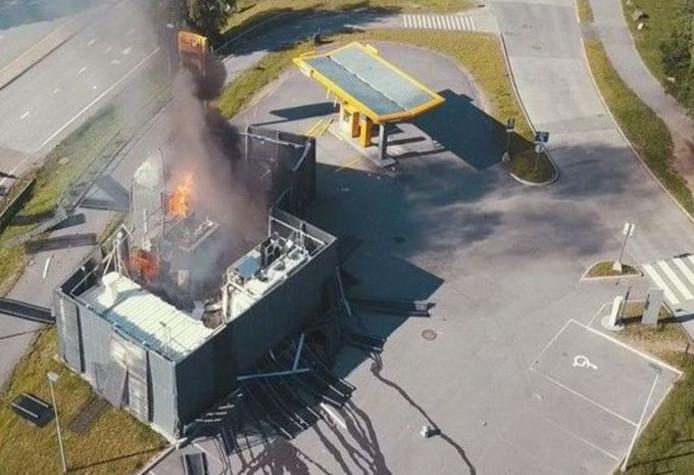 Explosie waterstoftankstation in Noorwegen