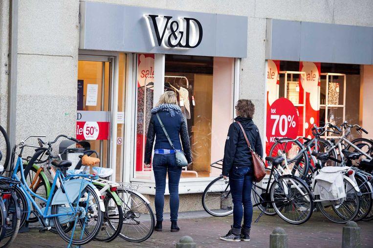 De vestiging van V&D in Haarlem opende woensdagochtend later haar deuren. Beeld ANP