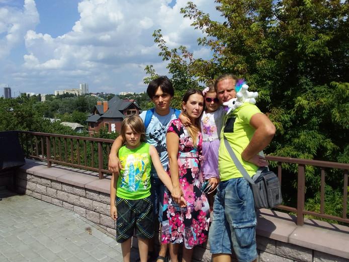 Het gezin Andropov in Oekraïne.