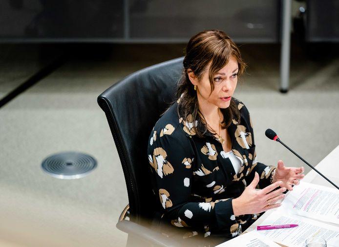 Sandra Palmen-Schlangen, vaktechnisch coördinator Toeslagen in 2016 en 2017, tijdens de tweede dag van de hoorzittingen van de tijdelijke commissie die onderzoek doet naar problemen rond de fraudeaanpak bij de kinderopvangtoeslag.
