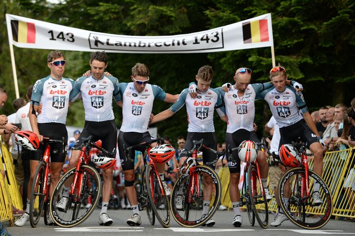 De renners van Lotto-Soudal.