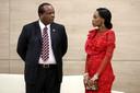 Vorige maand woonde koning Mswati III, in het gezelschap van zijn eerste vrouw, koningin Inkhosikatu, de Russische-Afrikaanse top in Sochi aan de Zwarte Zee bij. Foto AP
