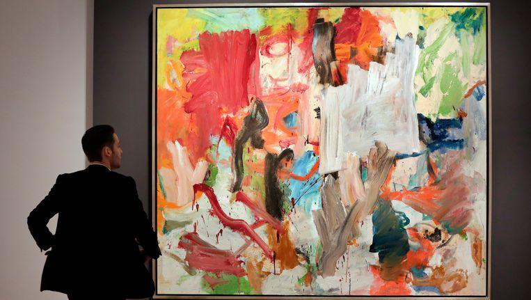 Het schilderij Untitled XXV vanWillem de Kooning. Beeld ap
