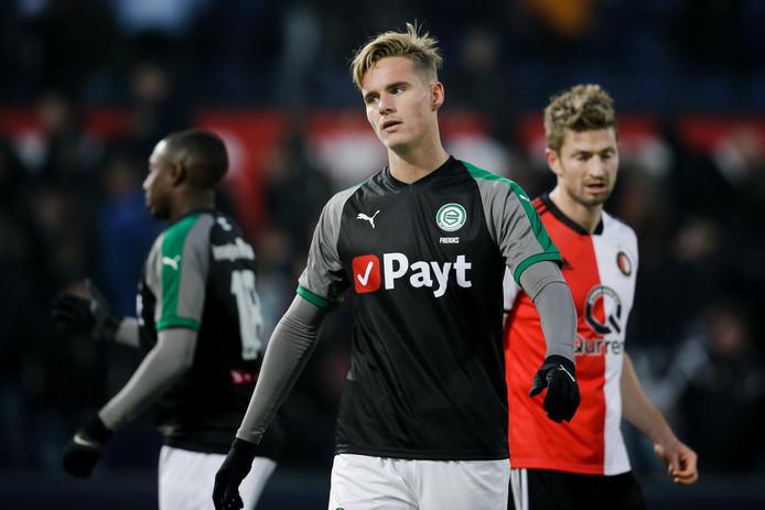 Tim Freriks van FC Groningen sluit aan bij de beloften van FC Utrecht.