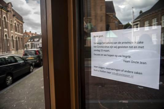 Restaurant Oncle Jean in Breda heeft de deuren tot en met 15 maart gesloten.