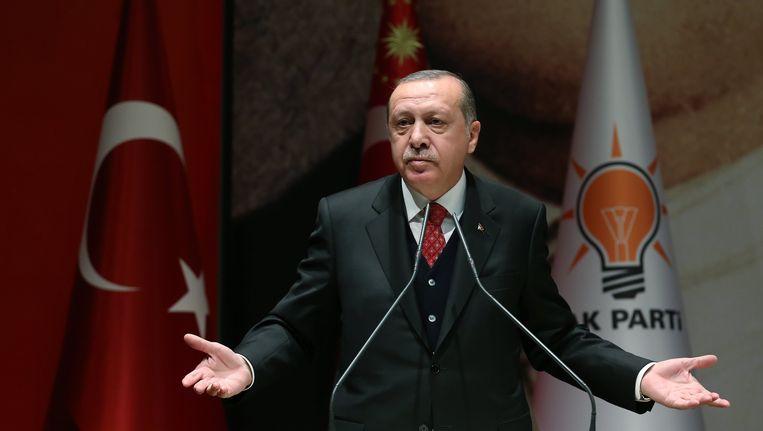 President Recep Tayyip Erdogan in Ankara 17 november 2017 Beeld epa
