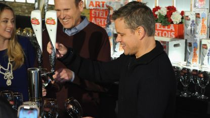 Matt Damon tapt Belgisch bier