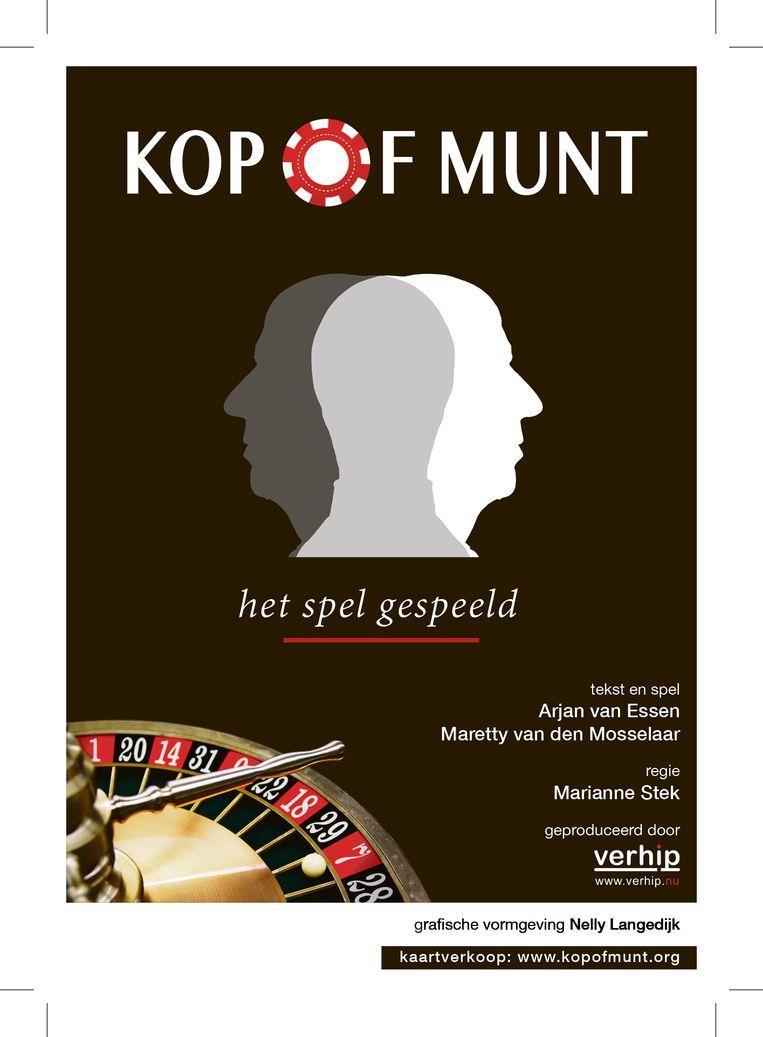 De flyer van de voorstelling. Beeld Kop of Munt / Nelly Langedijk