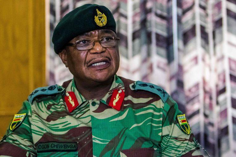 De leider van de Zimbabwaanse strijdkrachten, Constantino Chiwenga.