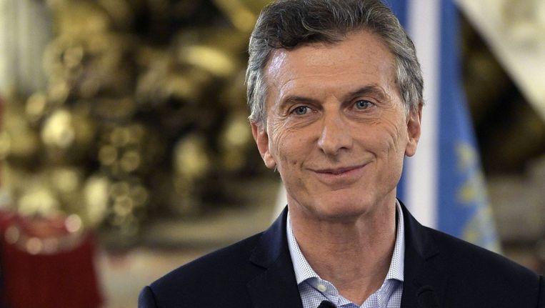 De Argentijnse president Mauricio Macri. Beeld afp