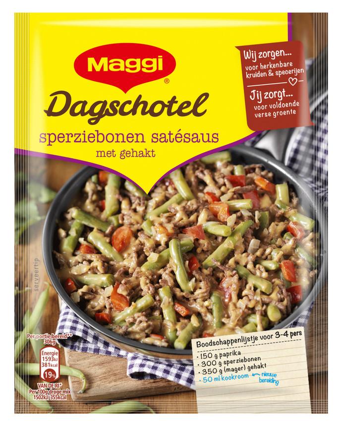 De pakjesmaaltijden van Maggi van Nestle