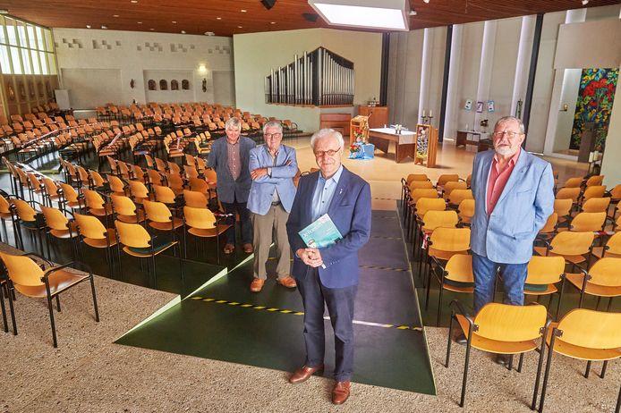 Vier drijvende krachten achter De Roerom (vlnr): Piet Voermans, Bart Verreijt, Peter van Overbruggen en Henk Peters.