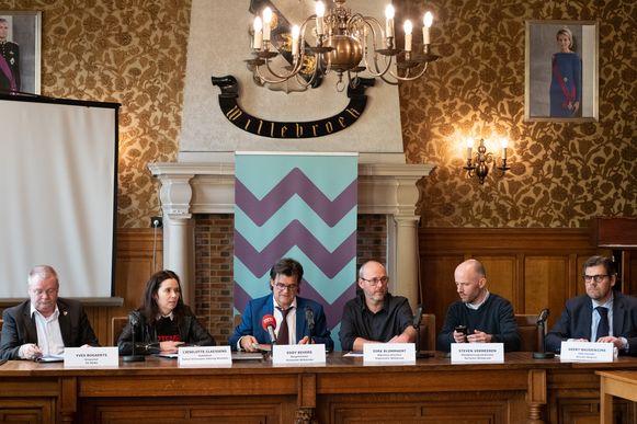 Persconferentie over de cyberaanval op de gemeente Willebroek
