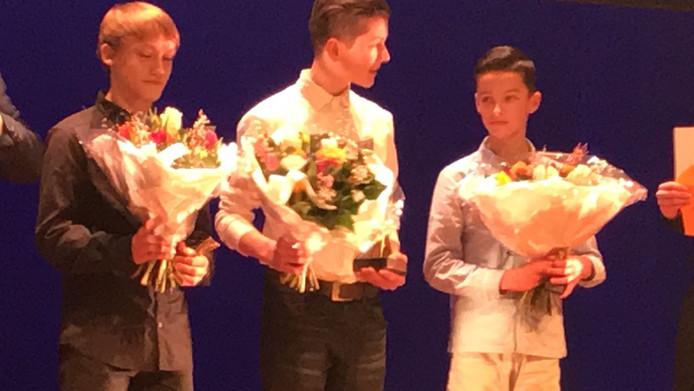 Kayo Vos (midden), sporttalent van het jaar.