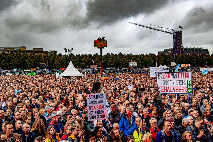 Boeren protesteerden op 1 oktober vorig jaar massaal op het Malieveld in Den Haag.