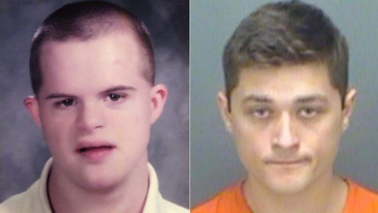 Slachtoffer John LaPointe en zijn verzorger Joshua Russell.