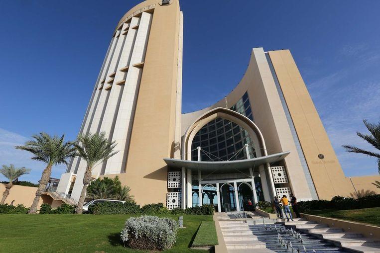 Het Corinthia hotel in Tripoli, waar Zeidan permanent verblijft. Beeld afp