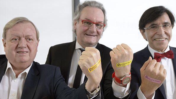 Marc Goblet, Jean-Pascal Labille et Elio Di Rupo