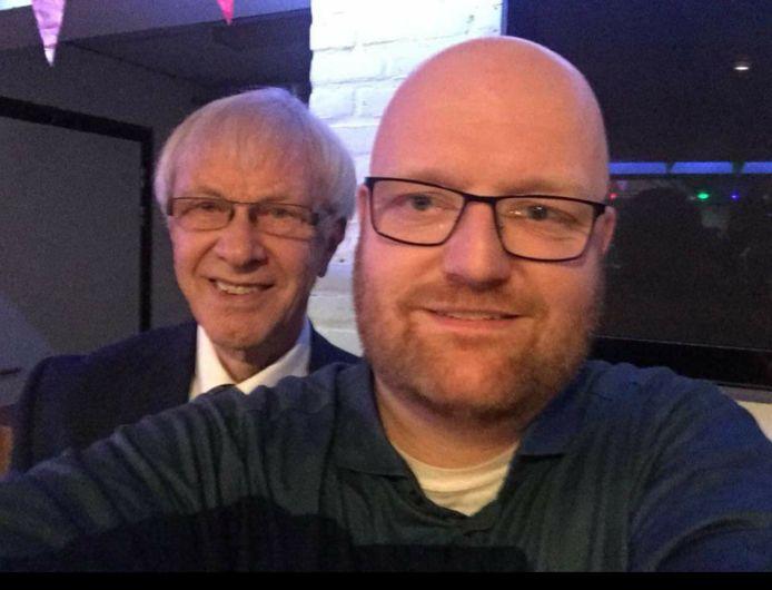 De beide raadsleden Rudy Reker en Tjerk Langman (rechts) van de Eindhovense LPF.