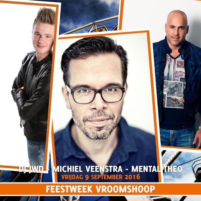 Drie DJ's komen dit jaar in actie tijdens de Feestweek Vroomshoop.