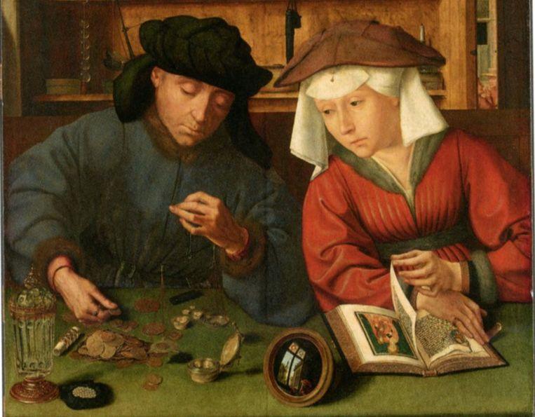 Portret van Margariet van Ruuslede en haar man, samen runde ze een wisselkantoor in Antwerpen waarvan Margariet het dagelijks bestuur voor haar rekening nam. Beeld