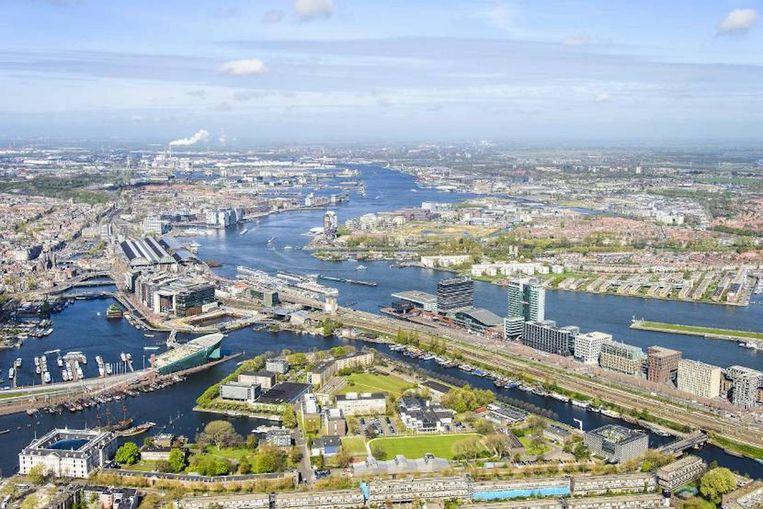 Toekomstbeeld van het Marineterrein. Beeld Gemeente Amsterdam Zuid