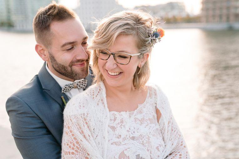 Line & Victor op hun trouwdag