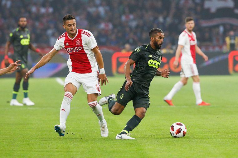 Standard-speler Carcela troeft Ajax-vedette Tadic af. Binnenkort ook in de BeNeLiga?