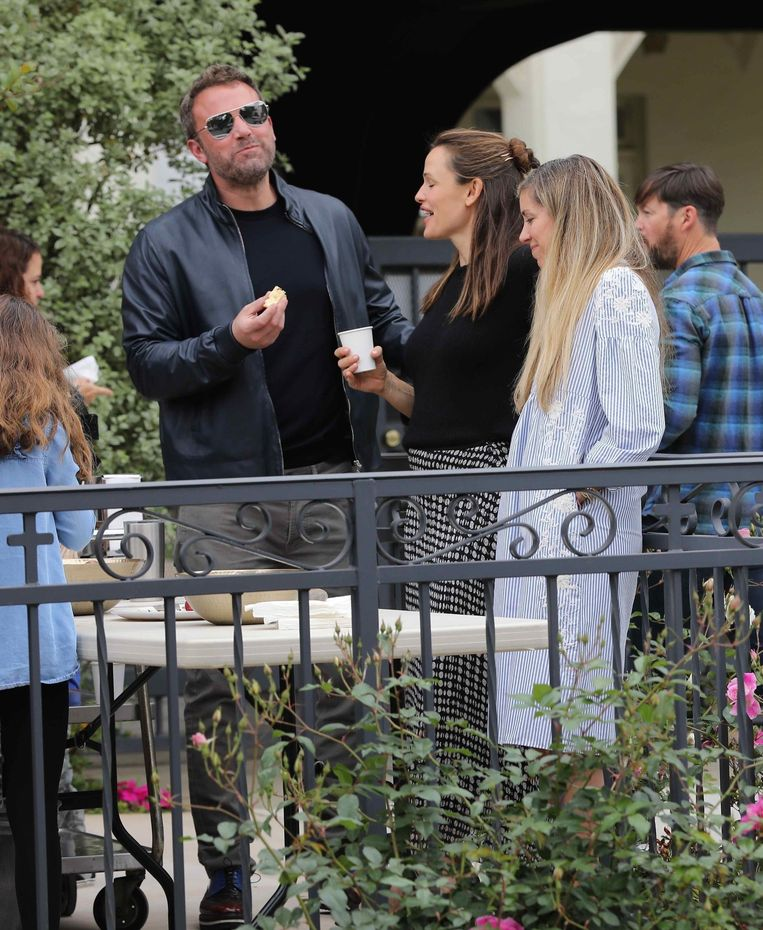 Pacific Palisades, CA  - Amicable exes Ben Affleck and Jennifer Garner share a sweet moment socializing together after Sunday church services with the kids. Although the pair finalized their divorce, they showed a glimpse of the affection they used to have for each other, laughing and smiling over conversation with fellow parishioners. Later, Ben could be seen taking Samuel to his weekend softball practice.  Pictured: Ben Affleck, Jennifer Garner  BACKGRID USA 28 APRIL 2019   BYLINE MUST READ: Lastarpix / BACKGRID