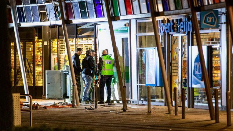 Op 5 januari werd een plofkraak gepleegd op een geldautomaat op het Belgiëplein in Nieuw-West. Beeld ANP