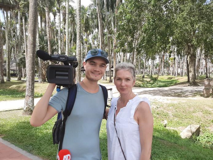 Camera-journalist Jelle Akerboom & verslaggeefster Eefje Oomen