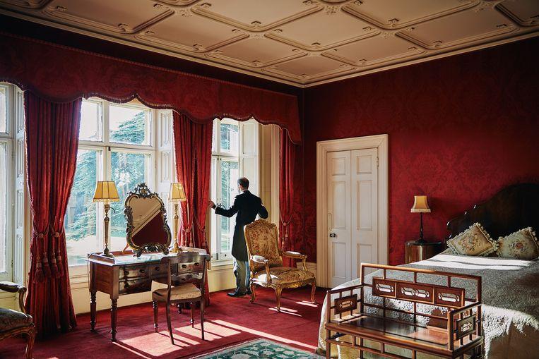 De ruimtes van Highclere Castle zijn rijkelijk versierd.