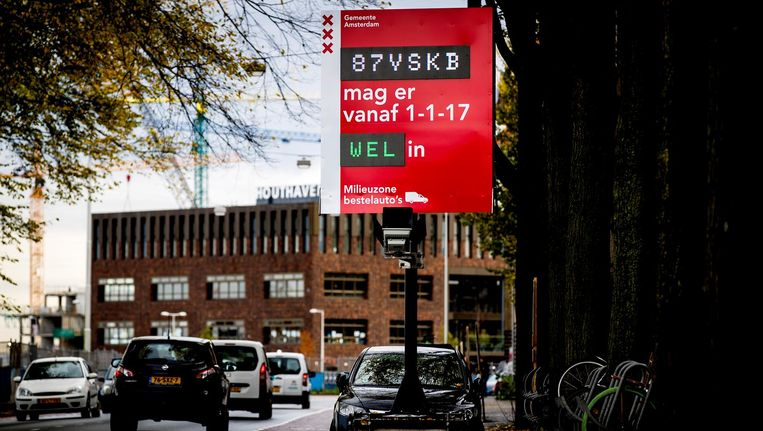 Milieuzone in Amsterdam Beeld ANP